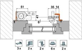 Kit di accessori 4038 per variante di montaggio 4151 TR4