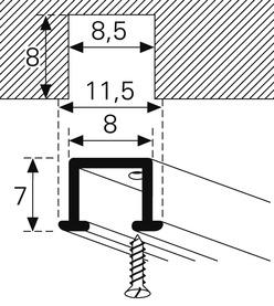 Binari per tende VS 57 con scanalatura di scorrimento Mini HM-104