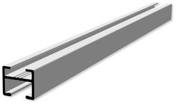 Rails à rideaux HAMOTEC VS 57 avec rainure glissante Maxi HM-100