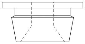 Clip di fissaggio da soffitto