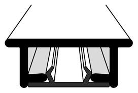 Rails à rideaux HAMOTEC VS 57 avec rainure glissante