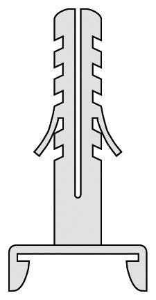 Klick-Dübel-Deckenträger