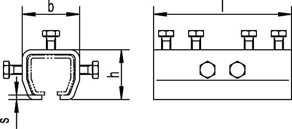 Verbindungsmuffe zu HELM-Vorhangsystem