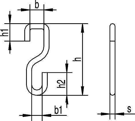 Einhängehaken zu HELM-Vorhangsystem