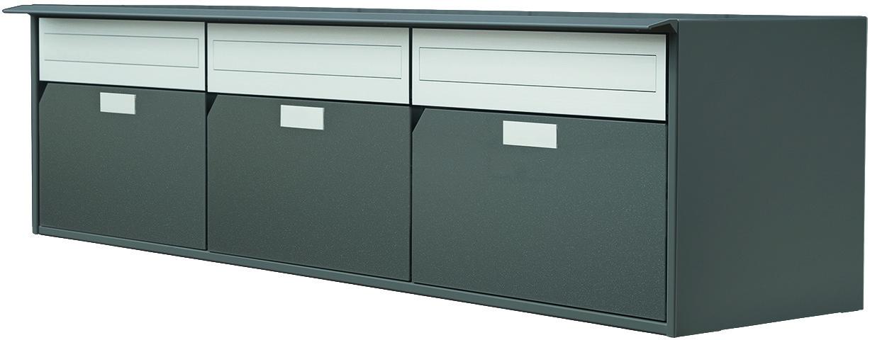 Boîtes à lettres HUBER modèle 400 - 3 côté de l'autre