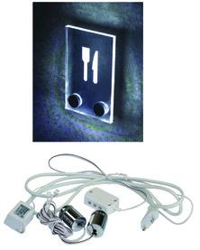Kit portatarghette con luce a LED