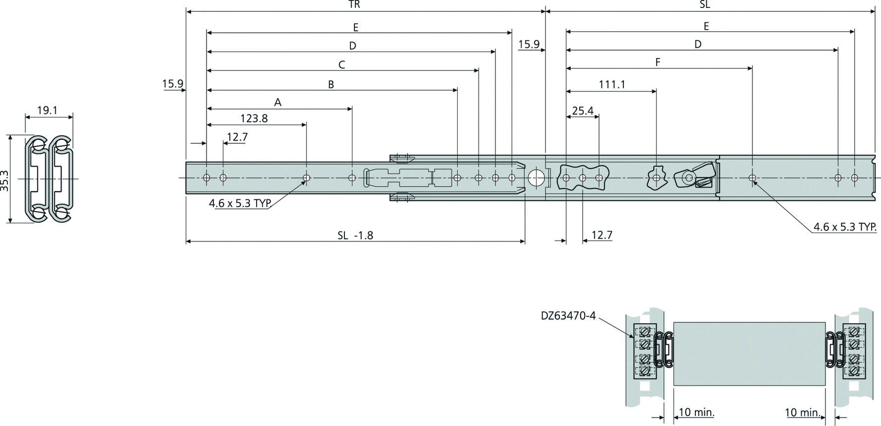 Kugel-Überauszüge ACCURIDE DZ0305