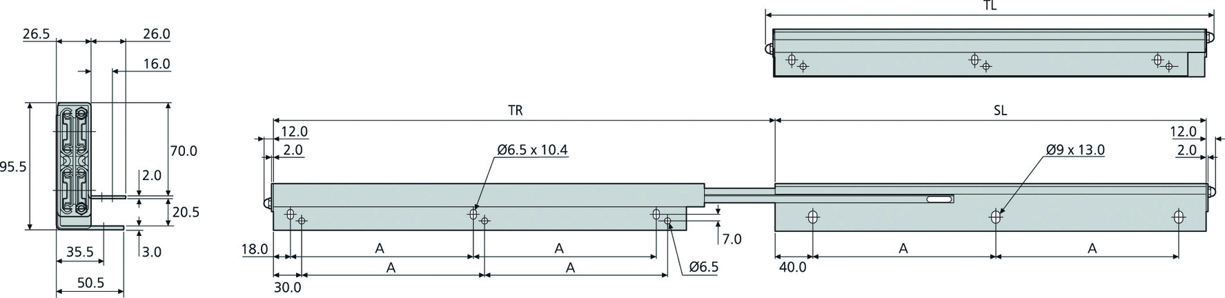 Kugel-Vollauszüge ACCURIDE DZ0522
