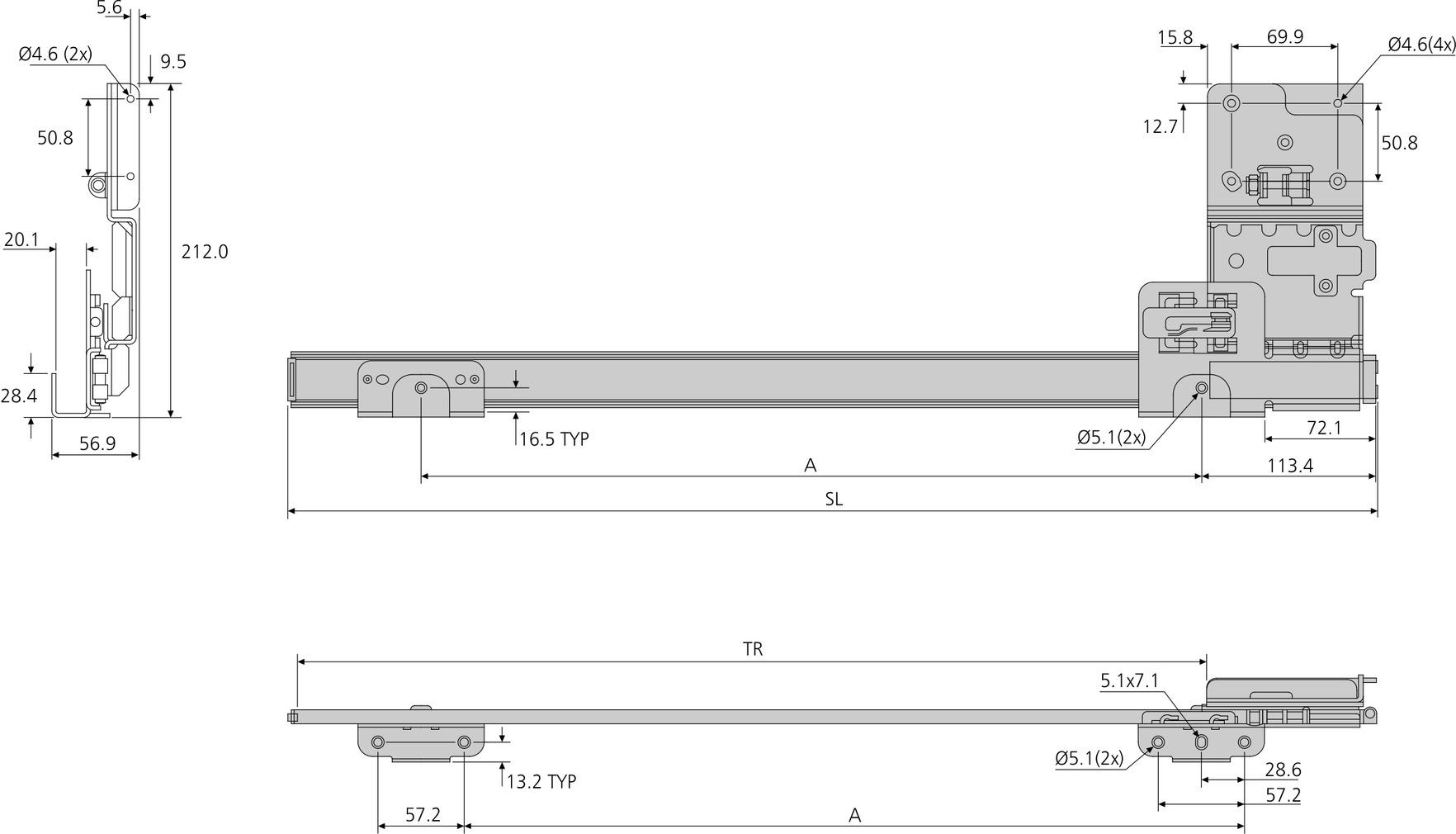 Drehschiebetürbeschläge ACCURIDE Inslide/Forslide 1321