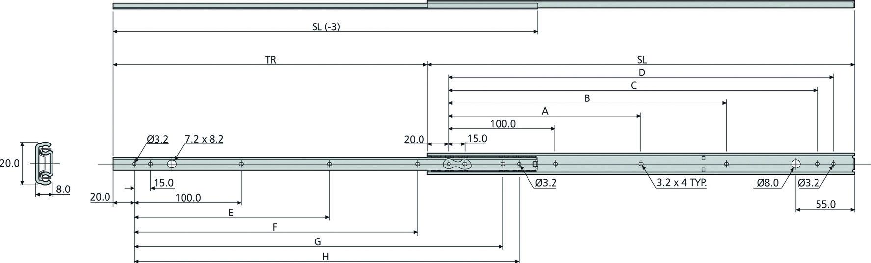 Kugel-Teilauszüge ACCURIDE DZ2421