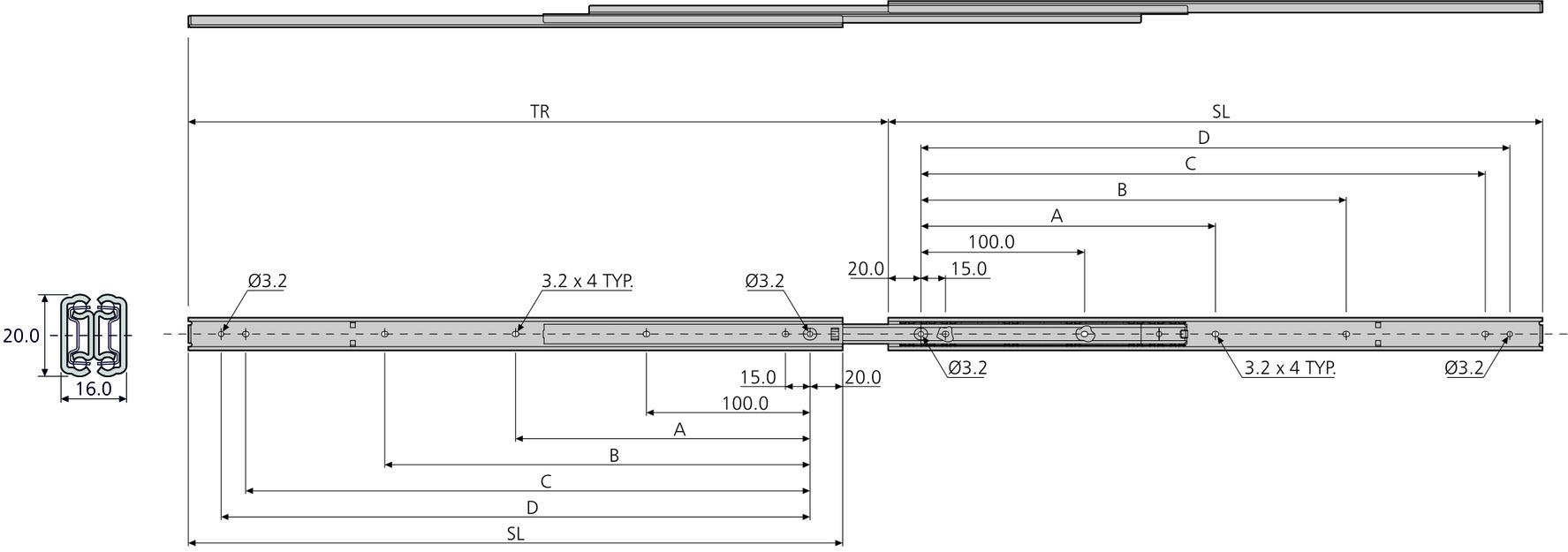 Kugel-Vollauszüge ACCURIDE DZ2431