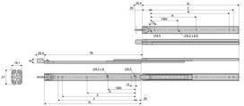 Coulisses à billes à double extension ACCURIDE 2731 CL avec verrouillage
