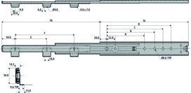 Kugel-Überauszüge ACCURIDE DZ3301-60