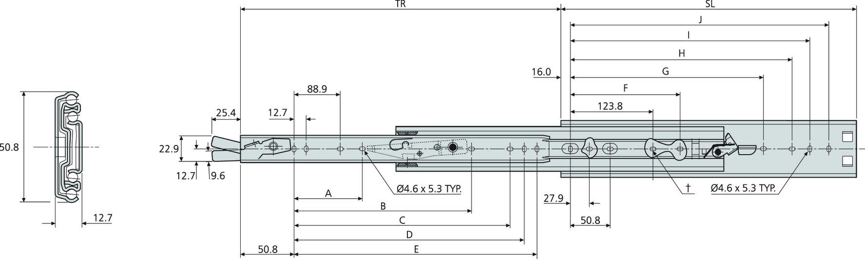 Kugel-Überauszüge ACCURIDE DZ3308