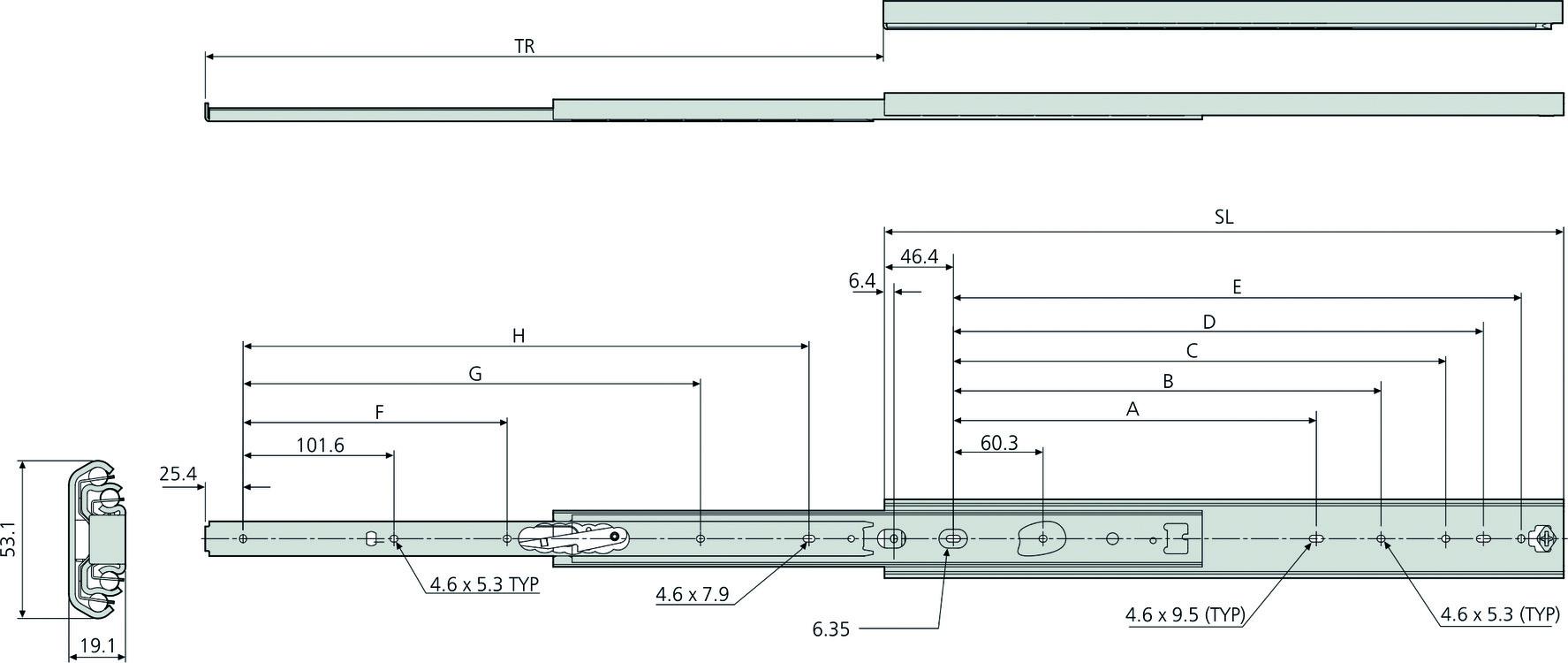Kugel-Schwerlast-Vollauszüge ACCURIDE DZ3657
