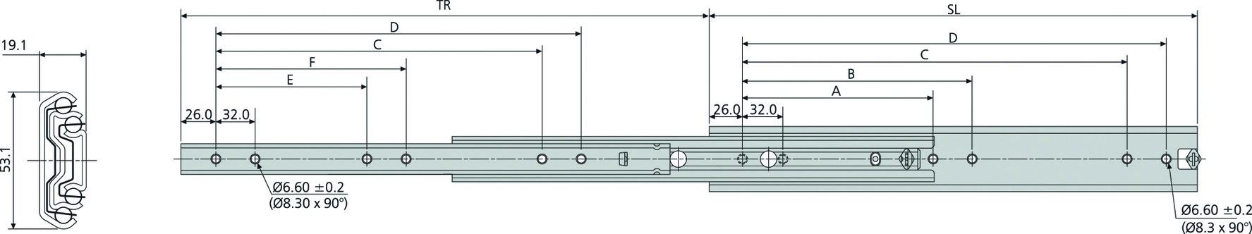 Kugel-Überauszüge ACCURIDE DA5321