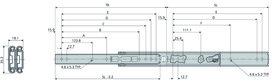 Kugel-Überauszüge ACCURIDE DS0305
