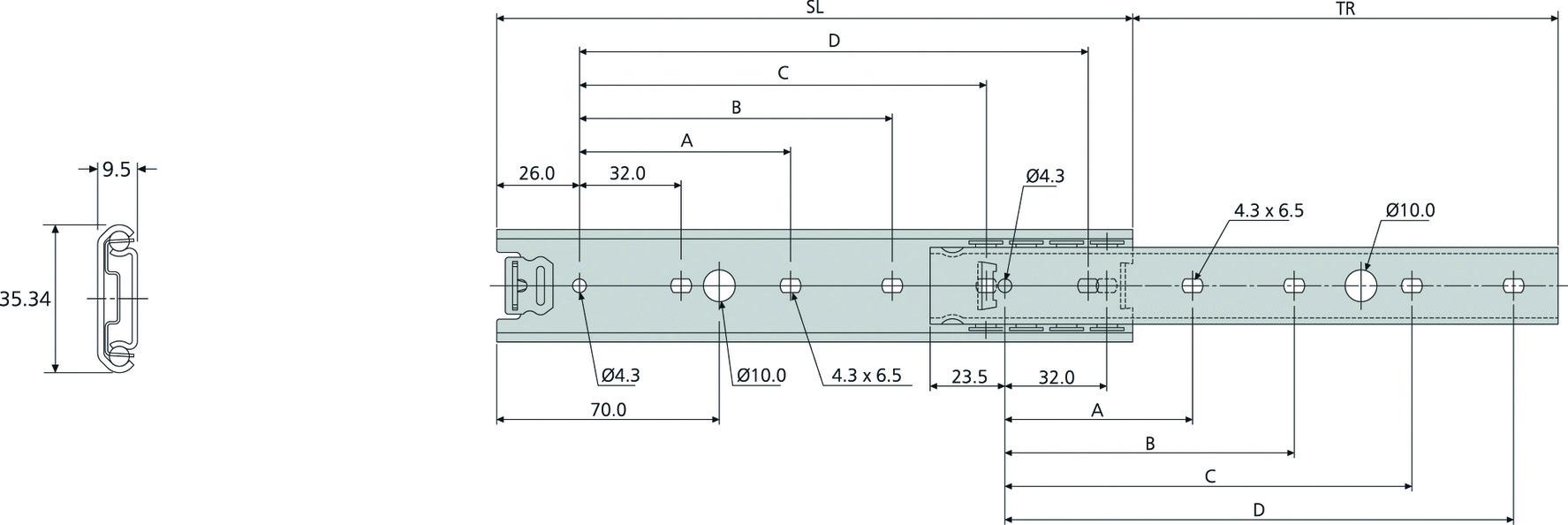 Guide a estrazione semplice ACCURIDE DZ2028