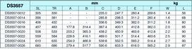 Guida a estrazione totale su sfere ACCURIDE DS3557