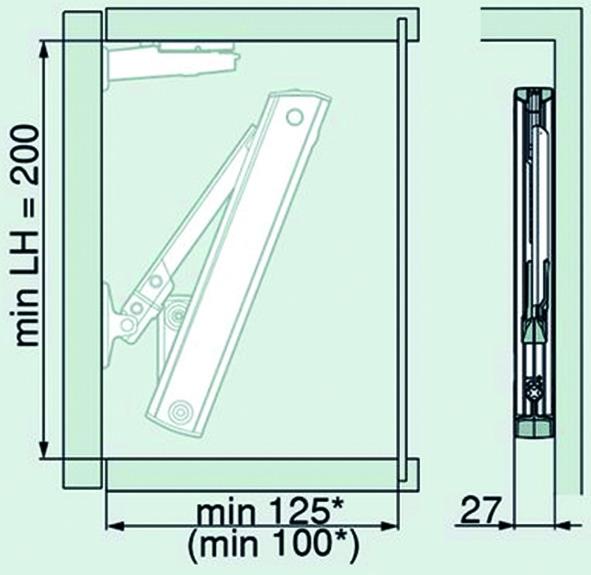 Compas pour abattants BLUM AVENTOS HK-XS