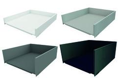 Tiroir à casseroles / tiroir intérieur à casseroles complet BLUM LEGRABOX pure, blanc soie, gris orion, argent polaire, noir terra, fabriqués selon vos dimensions