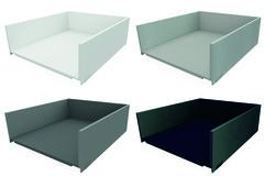 Tiroir à casseroles / tiroir intérieur à casseroles complet BLUM LEGRABOX pure, blanc soie, gris orion, argent polaire, noir terra