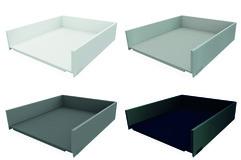 Tiroir / tiroir intérieur complet BLUM LEGRABOX pure, blanc soie, gris orion, argent polaire, noir terra