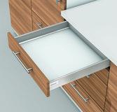 Kit da cassetto sottoforno preassemblato flessibili BLUM TANDEMBOX antaro N, bianco seta