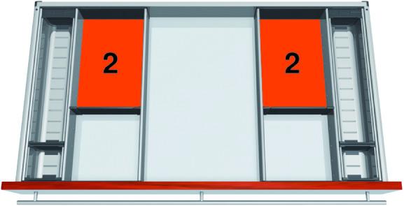 Set scomparto BLUM ORGA-LINE per TANDEMBOX antaro
