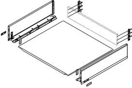 Cassetto completi BLUM LEGRABOX pure K, argento polare