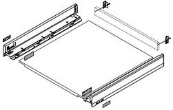 Kit completo per cassetto sottoforno BLUM LEGRABOX pure N, bianco seta