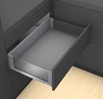 Kit completi cassetto con ringhierina preassemblato BLUM LEGRABOX free C, argento polare