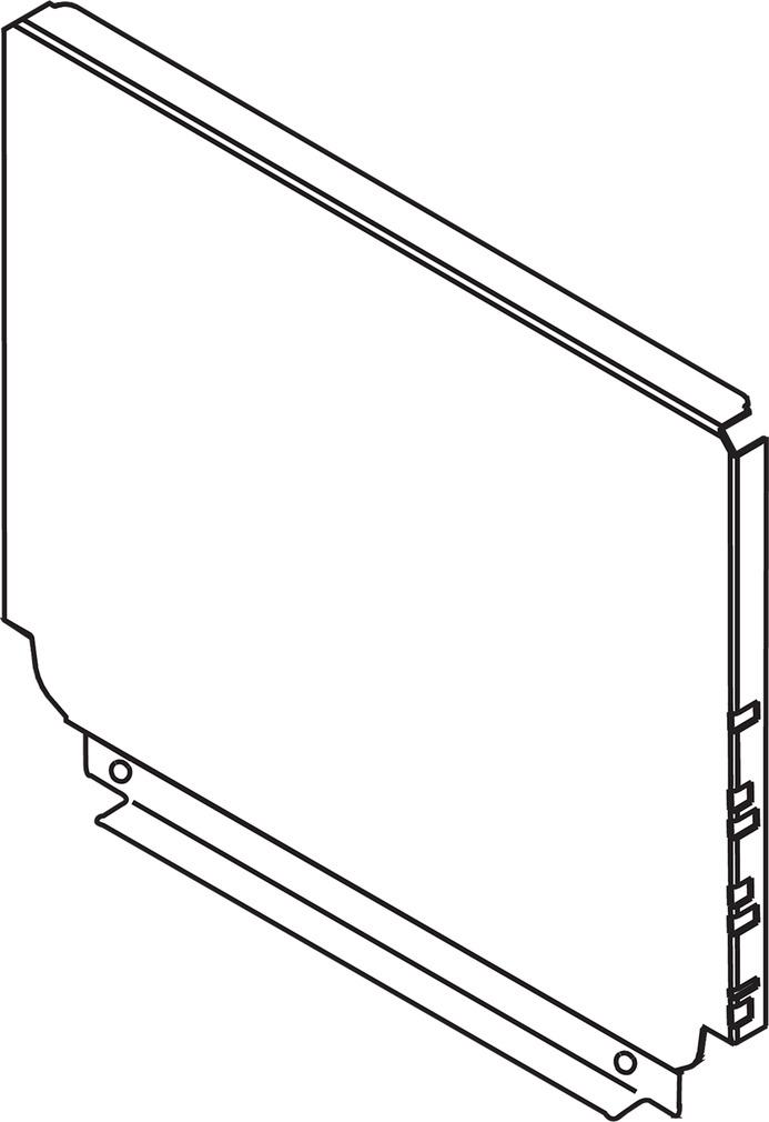 Pannello posteriore in acciaio TANDEMBOX antaro D