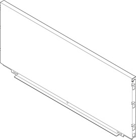 Pannello posteriore in acciaio BLUM LEGRABOX pure F