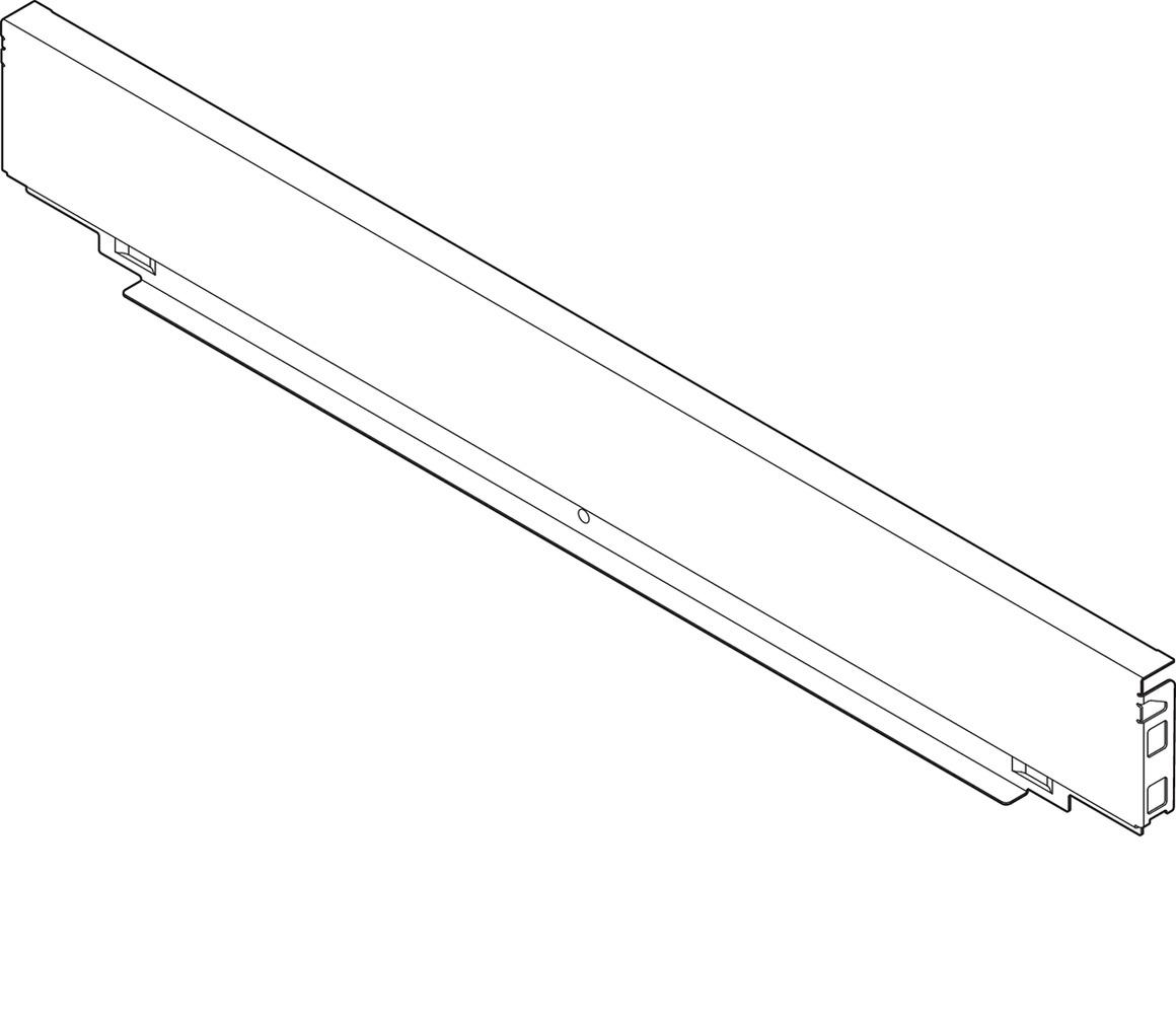 Pannello posteriore in acciaio BLUM LEGRABOX pure M