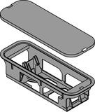 Supporto trasformatore BLUM SERVO-DRIVE, montaggio sul fondo