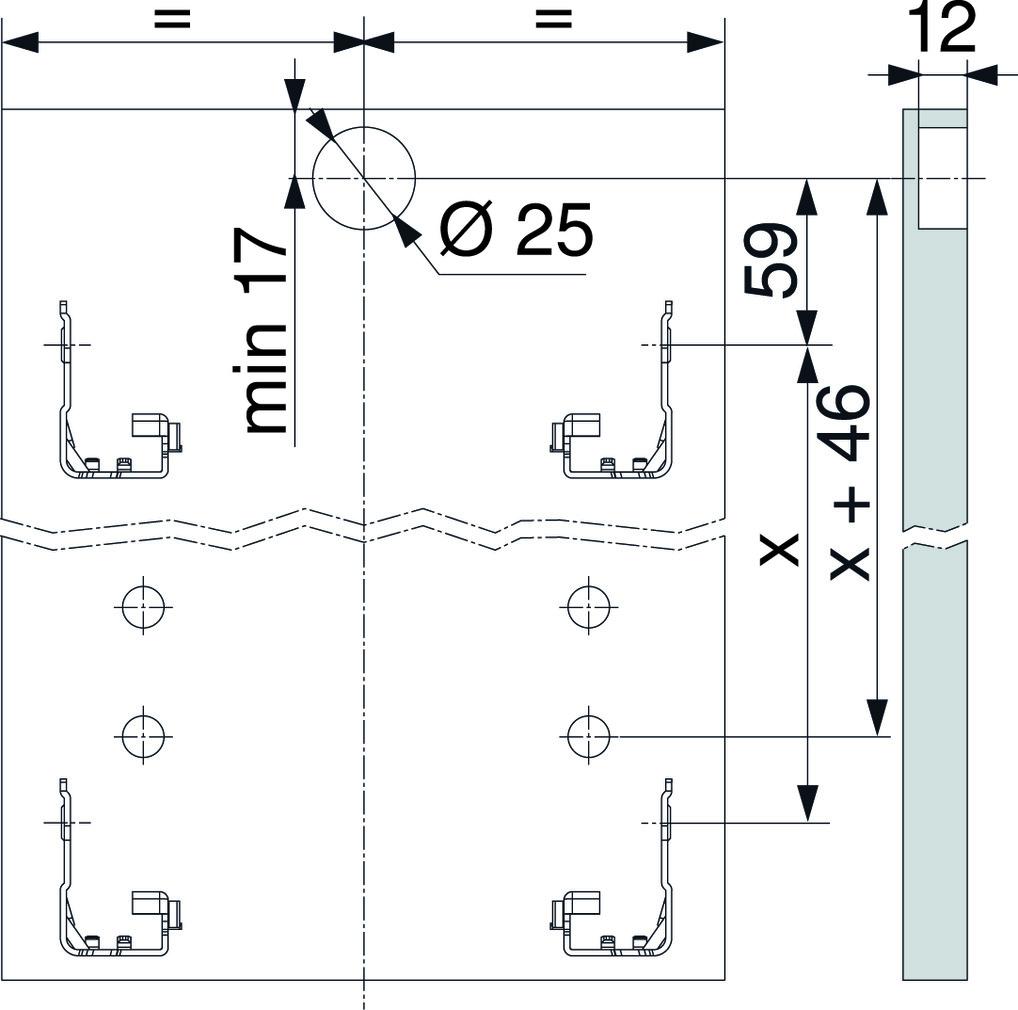 Trascinatore / cassa per cassetto all'interno BLUM LEGRABOX pure