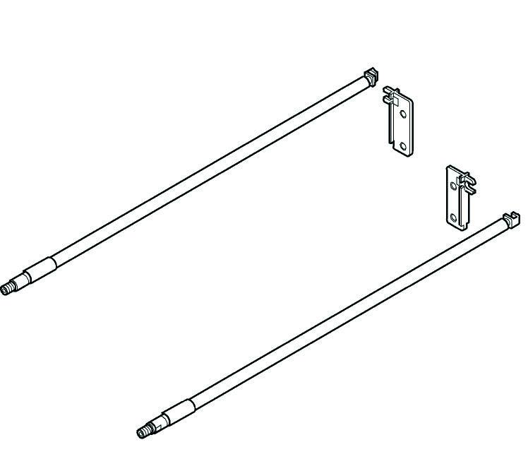 Kit da ringhierina longitudinale BLUM MOVENTO con supporto schienale ZRE