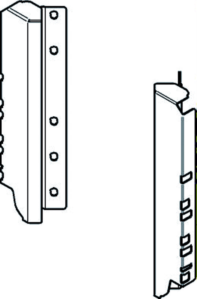 Holzrückwandhalter 45° BLUM für Space Corner D