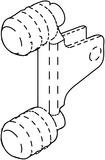 Fixation frontale pour profil BLUM LEGRABOX pure/free