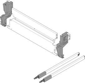 Pannello posteriore in acciaio per portarifiuti TANDEMBOX antaro M, grigio