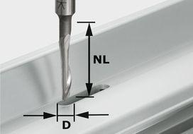 Fresa per alluminio HS S8 D5/NL23 FESTOOL 491036