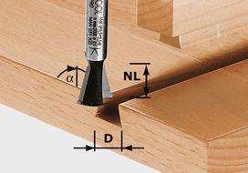 Fresa per giunzioni a coda di rondine HW S8 D14,3/13,5/15° FESTOOL 490990
