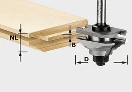 Fresa elastica a profilare HW S8 D46 x D12-FD FESTOOL 490643