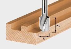 Frese a spirale HW in metallo duro con tagliente di base FESTOOL