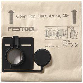 Sacchetto filtro FIS-CT 55/5 confezione da 5 pezzi FESTOOL 452973