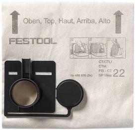 Sacchetto filtro FIS-CT 22 SP VLIES/5 confezione da 5 pezzi FESTOOL 456870