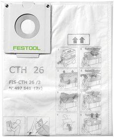 Sacchetto filtro di sicurezza FIS-CTH 26/3 confezione da 3 pezzi FESTOOL 497541