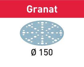 Disco abrasivo STF D150/48 P120 GR/10 Granat confezione da 10 pezzi FESTOOL 575157