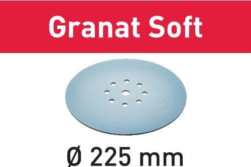 Disco abrasivo STF D225 P320 GR S/25 Granat Soft confezione da 25 pezzi FESTOOL 204227